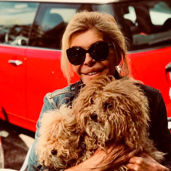 Bibiana Fernández con Vicky Martín Berrocal glasses y gafas de sol
